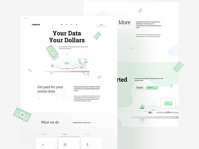 LH Landing Page + Illustrations illustration ux web uiux userinterfacedesign design webdesign ui