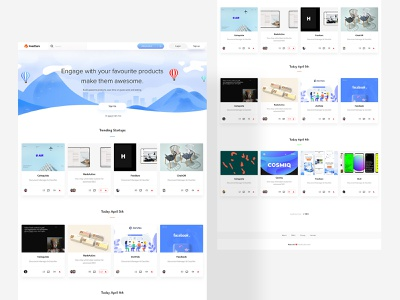 Feedture Homepage Feed illustration userinterfacedesign ux uiux design webdesign ui