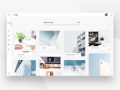 NCS Search app - UI Design