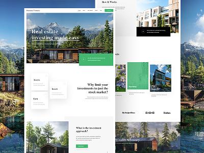 Katipult Client design #2 webdesigner realestate web clients design userinterfacedesign userinterfaces nature graphicdesign ui webdesign