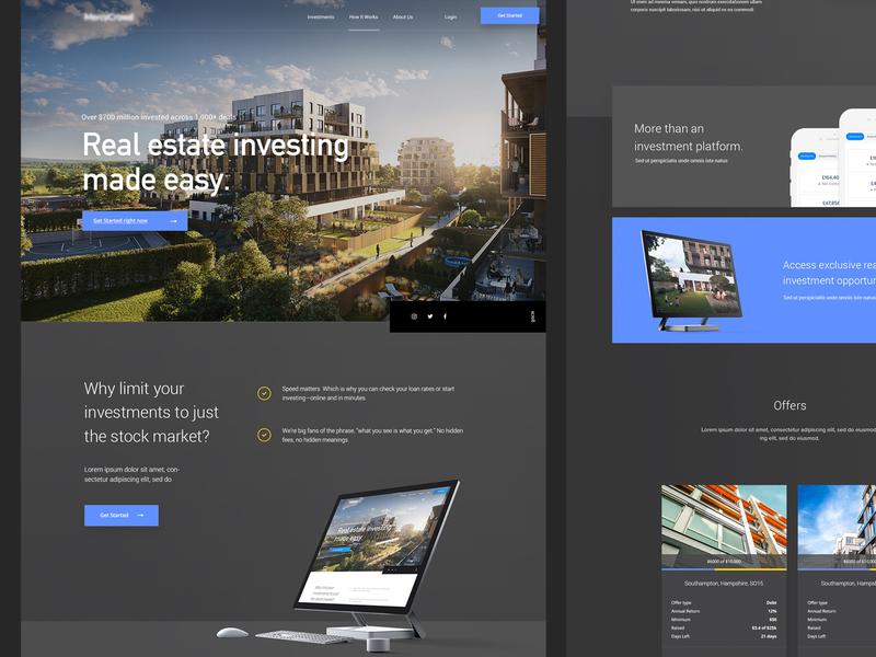 Katipult Client Design #5 Dark web designer crowdfunding crowdfund ux webdesigner landingpage uiux userinterfaces design userinterfacedesign web ui webdesign