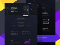 Strongir - landing page design