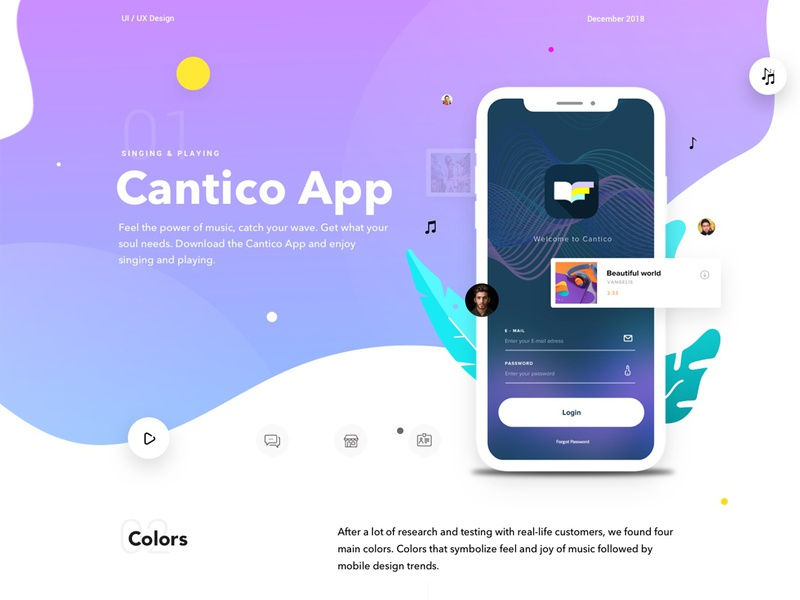 Behance Cantico IOS App by Dejan Baric for Studio Star on Dribbble