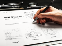 WHF Studio - Layout & Illustrations Process (sketches)