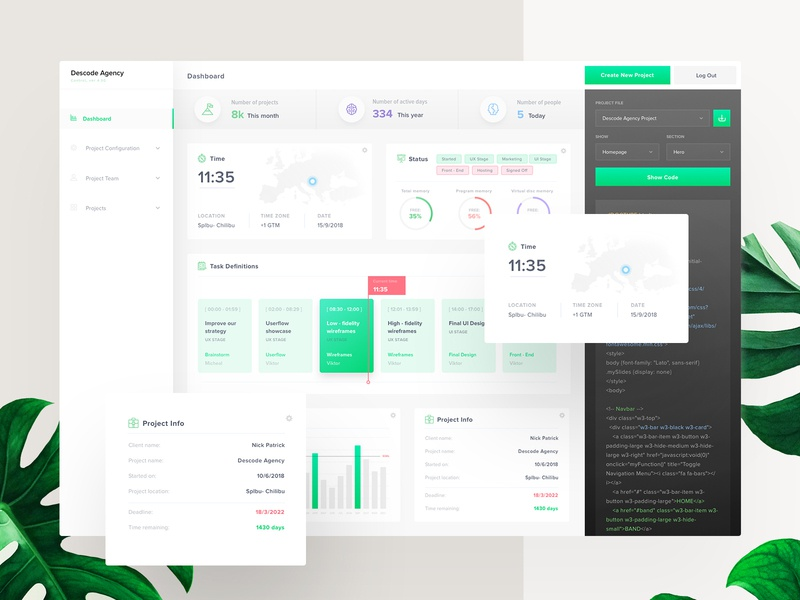 Descode Dashboard - UI / UX Design userinterfaces ui application ux ui application ui dashboard saas webdesign uiux web ux design userinterfacedesign