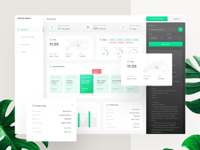 Descode Dashboard - UI / UX Design userinterfaces ui application ux ui application ui dashboard saas webdesign uiux web ux design userinterfacedesign