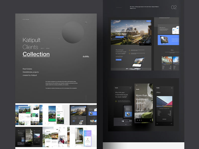 Katipult Clients Dribbble Collection 2017-2019 collections collection webdesigner landingpage userinterfaces web ux uiux userinterfacedesign design webdesign ui