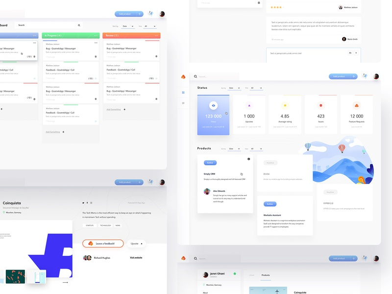 Feedture Web App - UI /UX Design product design application application ui application design app app design illustrations userinterfaces web uiux ux userinterfacedesign design ui