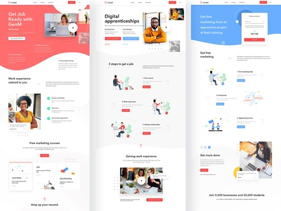 GenM Project - UI / UX Design + Illustrations