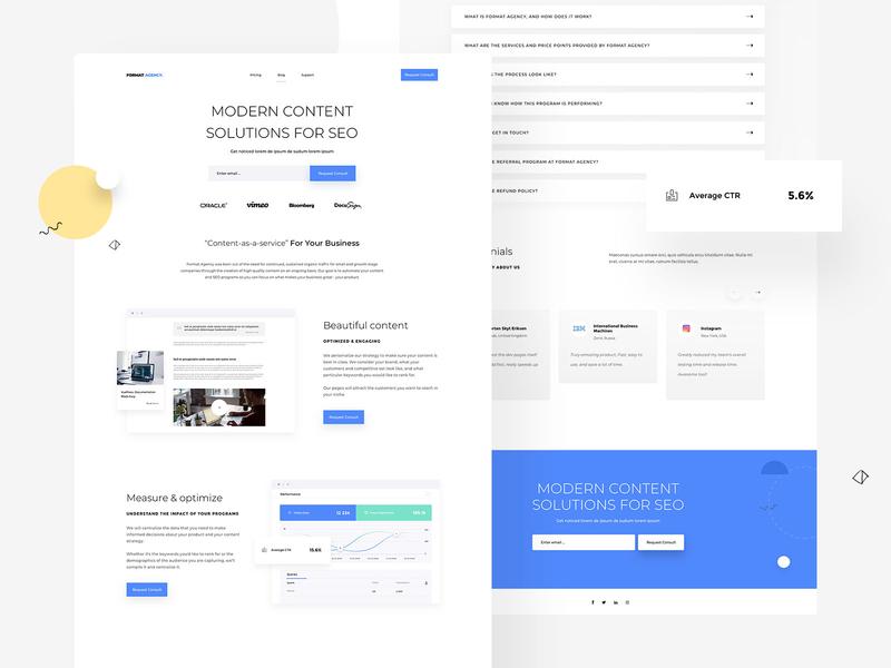 Format Agency - Landing page & UI / UX web illustrations landingpage webdesigner userinterfaces uiux ux userinterfacedesign webdesign ui