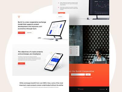 BurnX Landing Page - UI/UX Design webdesigner landingpagedesign userinterfaces web uiux ux userinterfacedesign design webdesign ui
