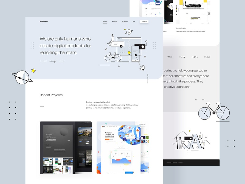 Star Studio Redesign illustrations webdesigner userinterfaces web ux uiux userinterfacedesign design webdesign ui