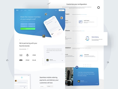 Bbot - Landing page + icons design landingpage webdesigner userinterfaces web ux uiux userinterfacedesign design webdesign ui