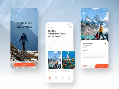 Adventure Tour App travel ux ui booking app