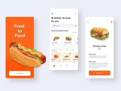 Food Delivery App delivery app minimal food app ux ui