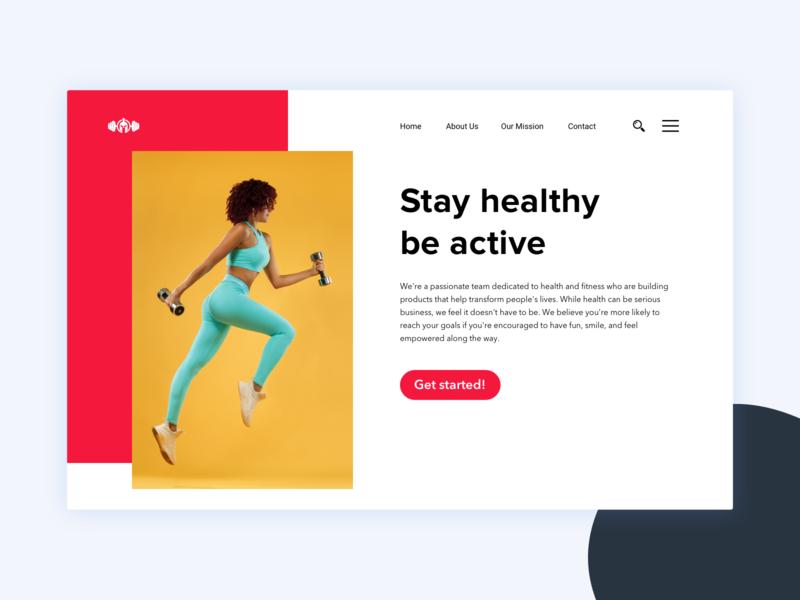 Fitness and Gym Landing Page health landing design webpage gym logo ux ui yoga fitness gym