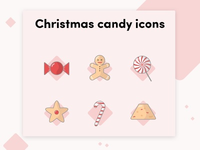 Christmas candy icons icons pack icons design sketch design illustration freebie