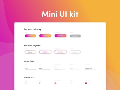 Mini UI kit ux designer ui-kit kit uidesign ui design sketch freebie