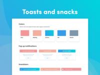 Toast pop ups and snackbars