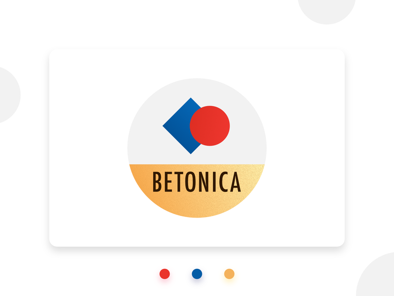 Betonica logo brand identity golden graphic design logo primary colors geometric simple logo bauhaus100 bauhaus logo design logo design concept