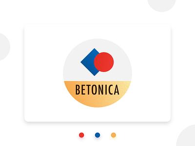 Betonica logo brand identity golden graphic design logo primary colors geometric simple logo bauhaus100 bauhaus logo design logo design concept