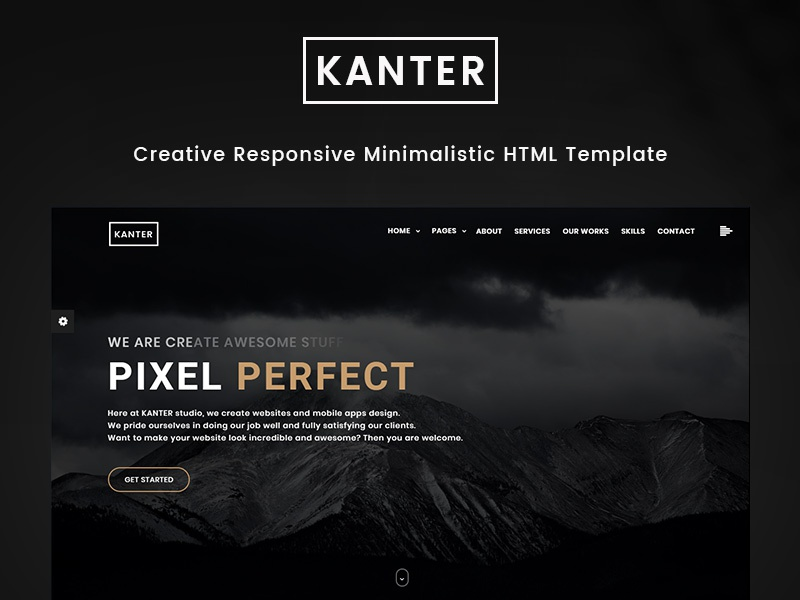 Kanter - Creative Responsive Minimalistic HTML Template by Brainiak