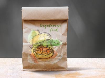 Part of vegetarian illustration series
