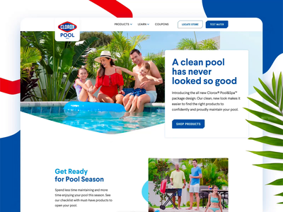 Clorox Pool&Spa protopie website animation minimal flat user interface user experience ui ux web design agency web design design