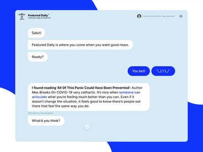 Featured Daily protopie animation chatbot chat application user experience ui minimal ux design user interface
