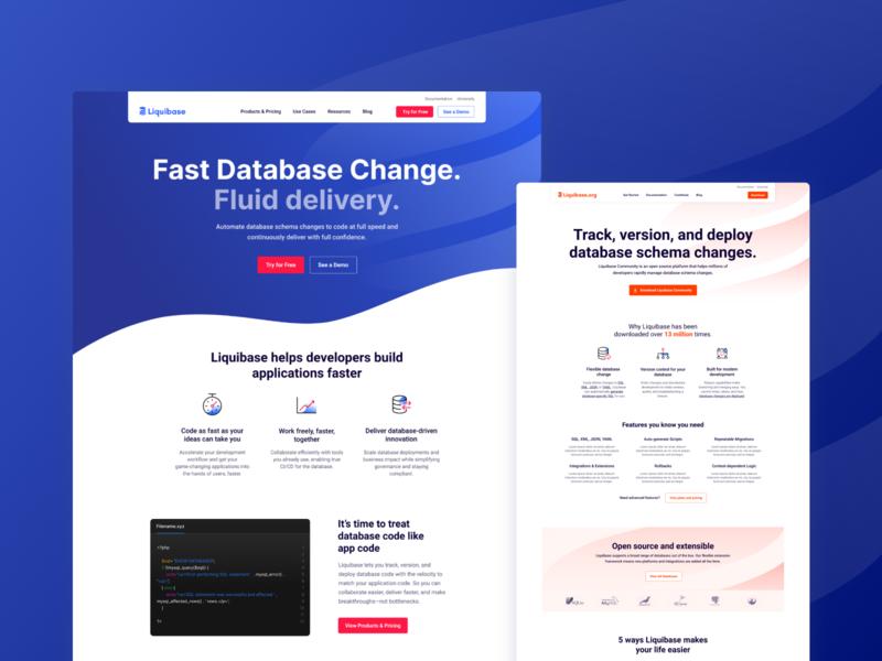 Liquibase com/org webdesign ui minimal user experience ux website flat design user interface