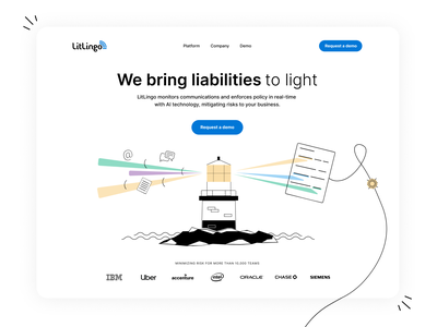 LitLingo line animation minimal ui user experience illustration webdesign website path animation animation user interface ux design