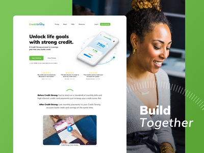 Credit Strong whitespace animation minimal flat ux webdesign website user experience user interface design ui