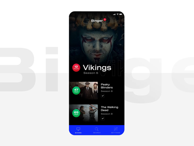 Binger - app concept animation ux user interface app after effects principle sketch ios tv application