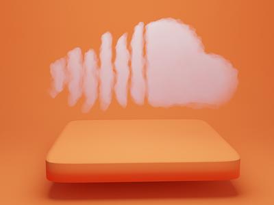 Soundcloud 3D icon ui 3d icon