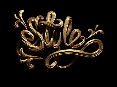Style lettermark letters 3d art word lettering 3d typogaphy