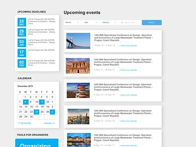Events Feed uidesign uiux calendar ui events web app