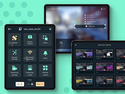Streaming app for tablet (dark mode) themes menu editor mobile game game illustration product design night mode dark mode facebook youtube twitch redesign android ipad mobile app tablet app tablet streaming streaming app