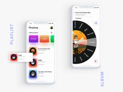 iOS music player app concept