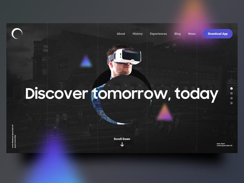 Discover Tomorrow! by Abhishek Saxena on Dribbble
