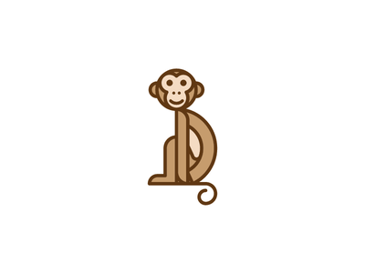 Monkey Mark monkey identity brand branding mark iconic circle grid symbol type icon logo