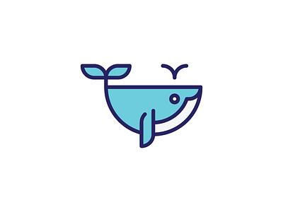 Whale Mark sea whale identity brand branding mark iconic symbol type icon logo