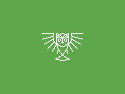 Owl Mark identity brand branding mark iconic bird owl typography type icon logo