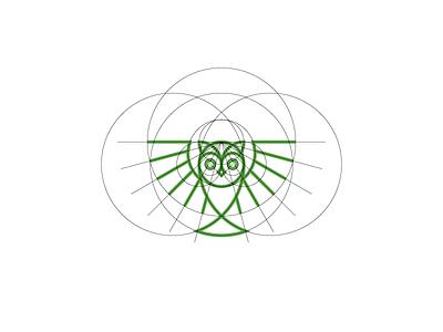 Owl Mark construction identity brand branding mark iconic bird owl typography type icon logo