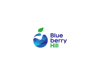 Blue berry hill logo identity brand branding mark iconic juice typography type icon logo
