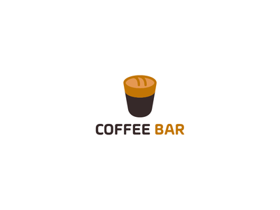 Coffee bar logo identity brand branding mark iconic beaked bakery bread coffee typography icon logo