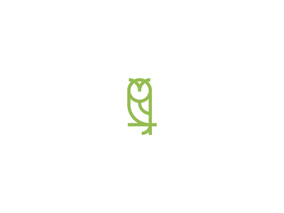 Owl Mark bird owl minimal identity branding brand iconic symbol mark icon logo