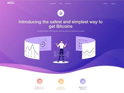 Bitcoin web concept