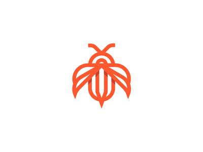 Bee design branding illustration 设计 logo icon