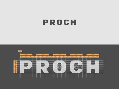 Proch logotype typography