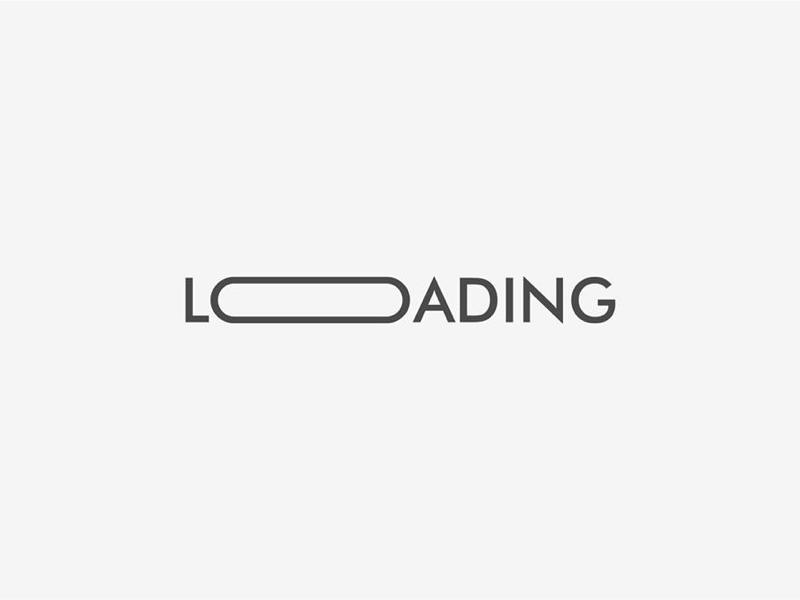 Loading typographical logo